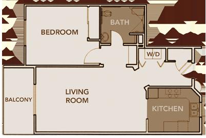 North Apartment Plan 1 Floor Layout