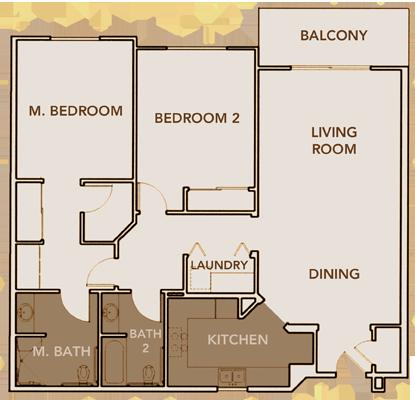North Apartment Plan 2 Floor Layout