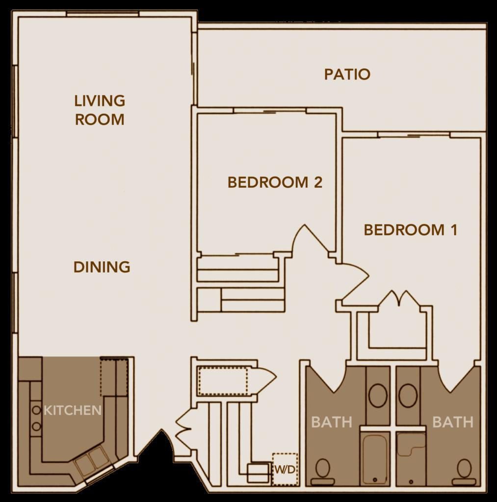 Apartment Plan 1 Floor Layout