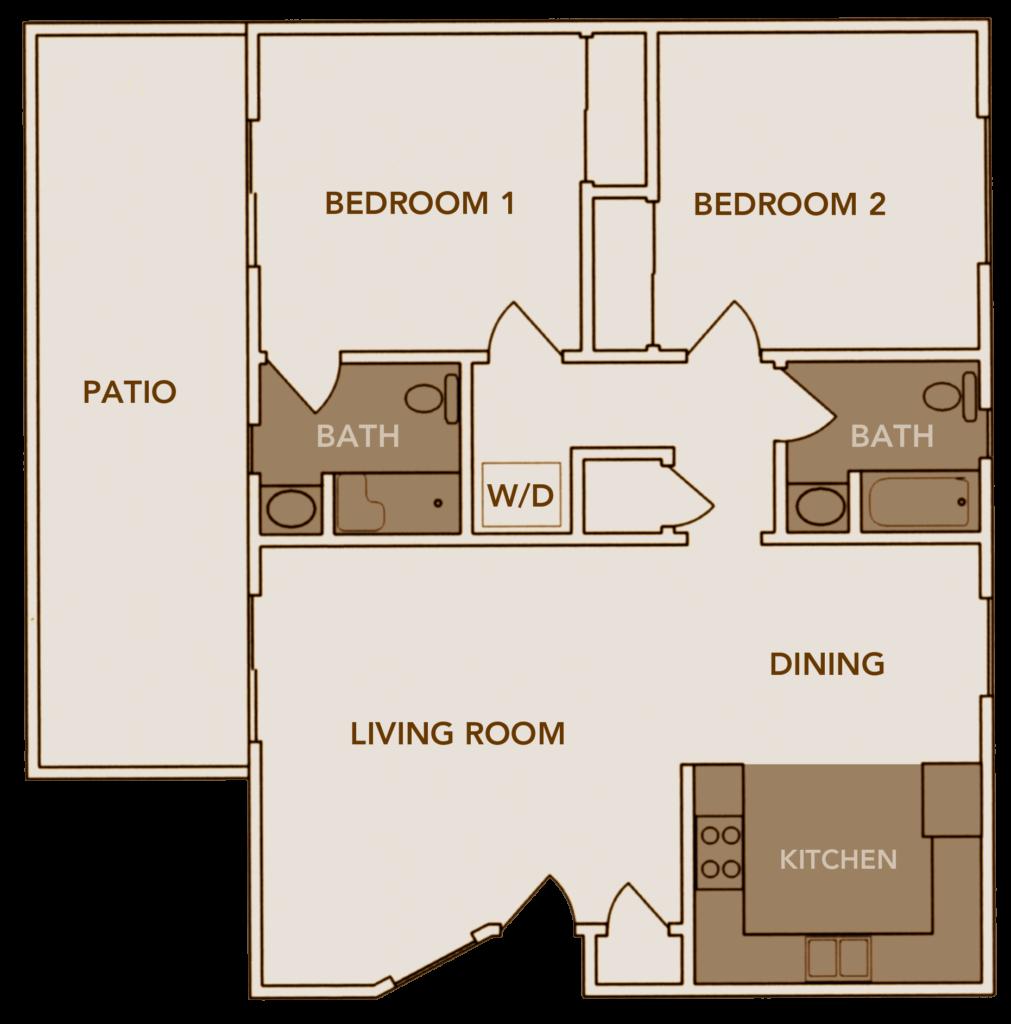 Apartment Plan 3 Floor Layout