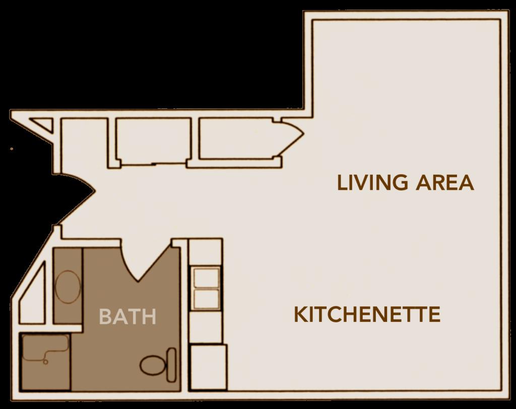 Studio Apartment Floor Layout